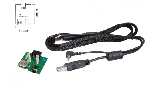 RTA 005.402-0 USB Kabelsatz fahrzeugspezifisch, Hyundai / Kia USB 2.0 + AUX Stecker  L= 68cm
