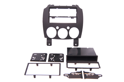 RTA 002.391-0 Multi Einbaurahmen Kit mit Ablagefach, Ausführung ABS matt - schwarz MAZDA Mazda 2 (DE) 07 ->