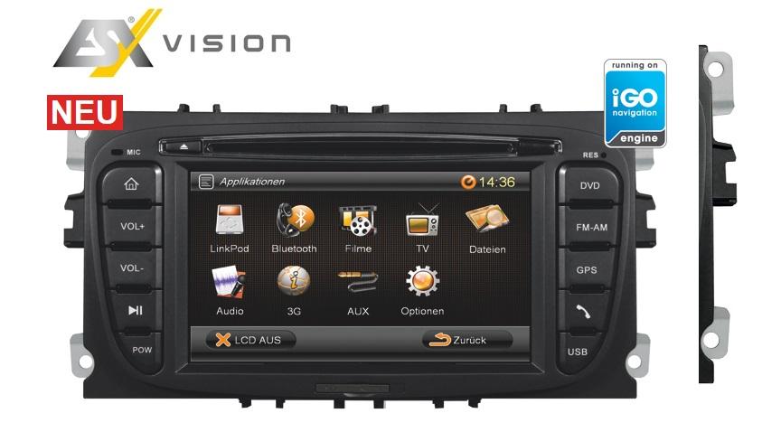 ESX VN609-FO-U1 Navigation für Ford Mondeo, Focus, Galaxy, C-Max, S-Max