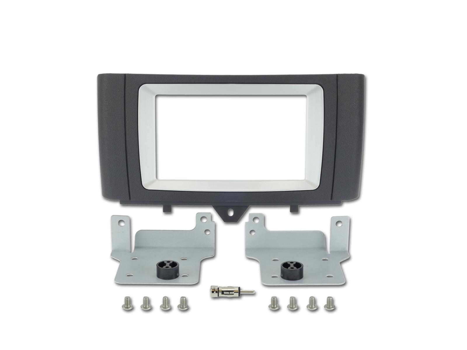 Alpine KIT-6.1SMT Einbauset für Smart Fortwo (451) Installations-Set 2 DIN