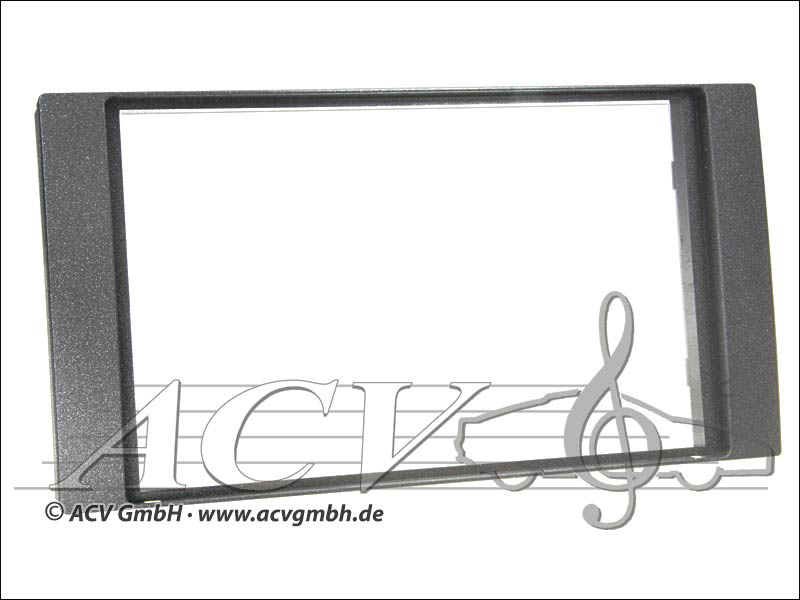 Radioblende Ford Rubber Touch 2005 -> Double DIN anthracite