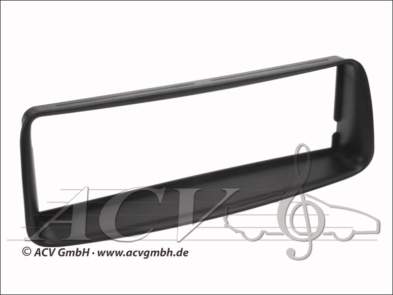 Radioblende Peugeot 206 Rubber Touch Black
