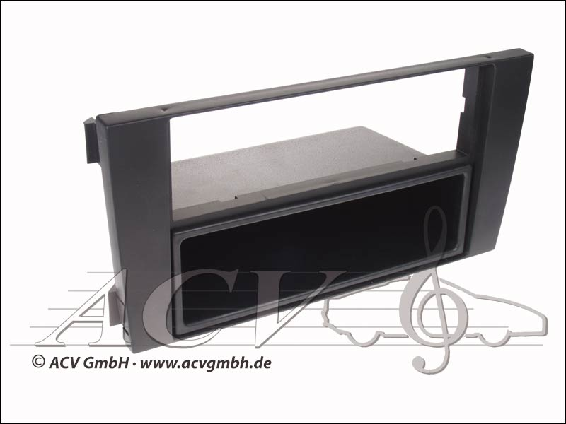 Radio Rubber Touch panel Audi A6 double DIN Black
