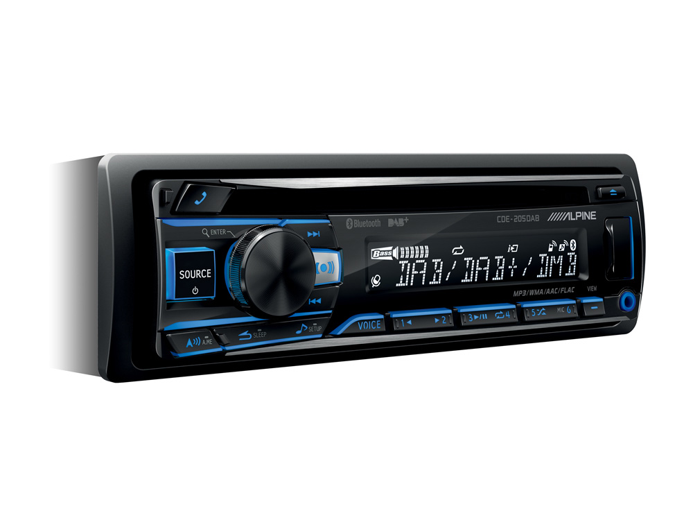 Alpine CDE-205DAB CD-RECEIVER MIT DAB+ / CD / USB UND BLUETOOTH Autoradio Digital Radio mit DAB+, CD-Player, USB-Playback und Smartphone Connectivity