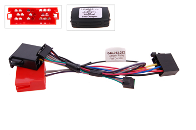 RTA 013.282-0 Steering wheel with steering wheel remote control adapters for vehicles without CAN bus controller