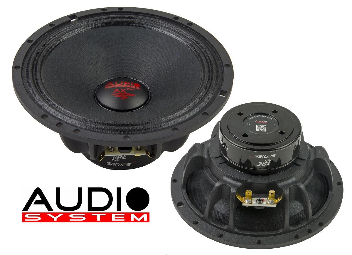 Audio System AX 165 PA EVO 16,5cm Tief / Mitteltöner / Midrange Lautsprecher 1 Paar