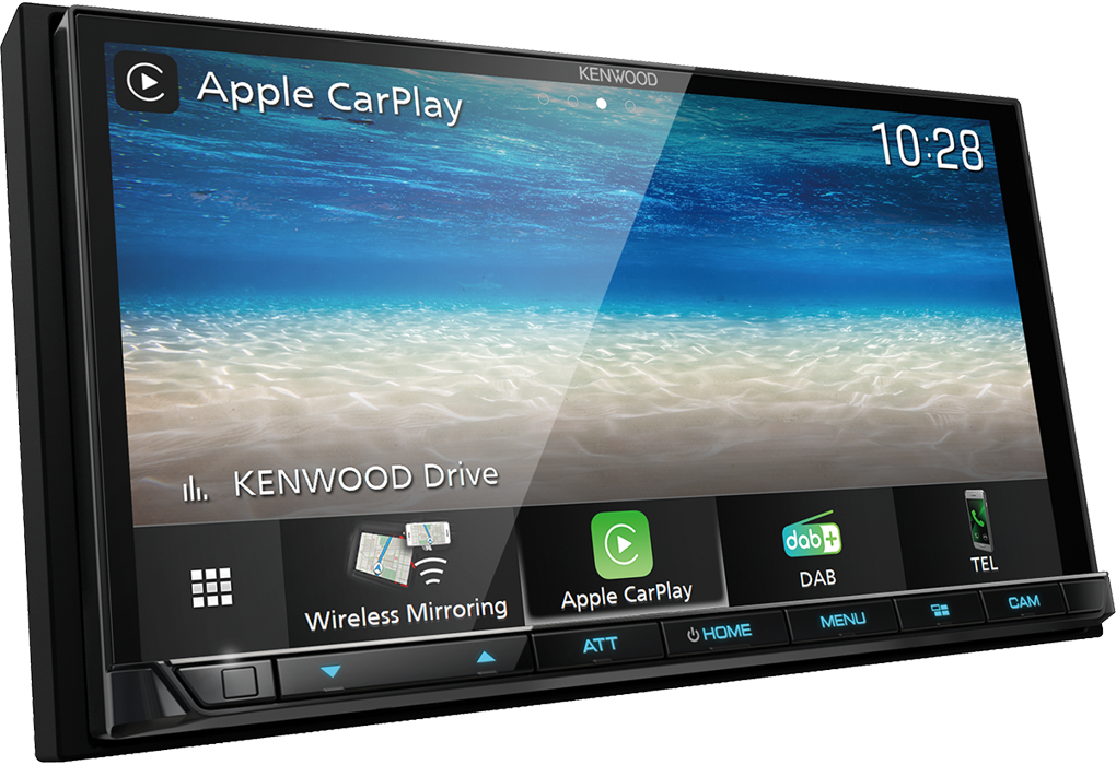 KENWOOD DMX-8020DABS 17,7 cm Digital Media AV-Receiver mit Wireless CarPlay, Android Auto, Bluetooth & DAB+ Radio