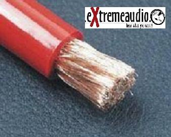 Strom Kabel 10,00 mm² rot-transparent Powerkabel