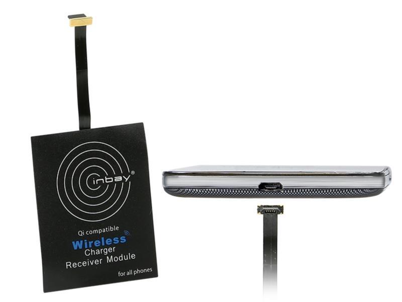 ACV 240000-25-07 Inbay® Universaler Induktiver Qi-Ladeempfänger USB oben