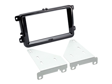 ACV 381320-30-2 Double DIN Installation Kit piano-black for Seat, Skoda and VW