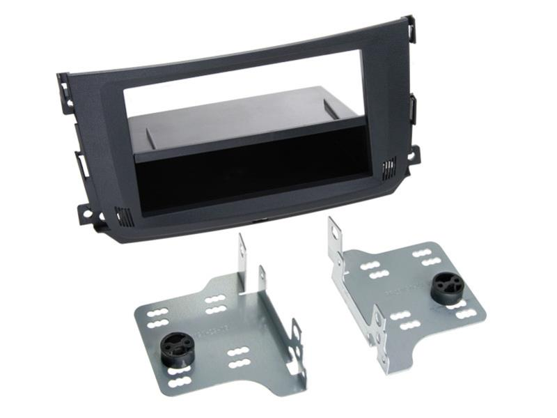 ACV 281190-29 2-DIN facia plate with pocket Smart ForTwo 2010 > black