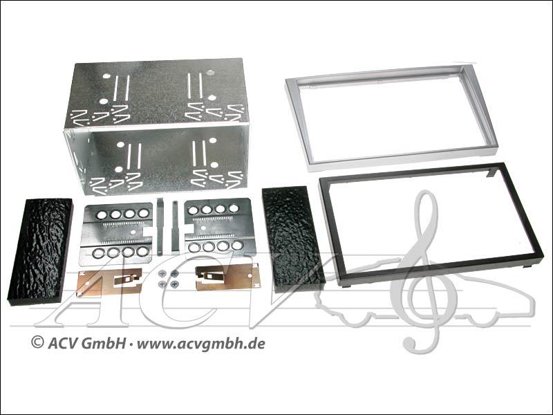 installation Double-DIN kit tactile caoutchouc Opel 2000 -> Couleur: argent