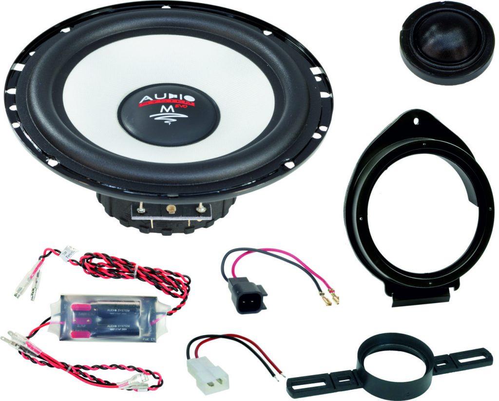 AUDIO SYSTEM MFIT OPEL MOKKA X EVO2 90W PERFECT FIT COMPO SYSTEM Lautsprecher für OPEL MOKKA X 2016 ->