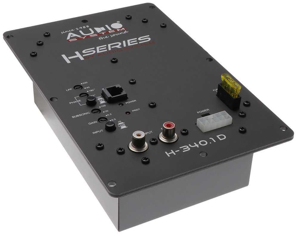AUDIO SYSTEM H-340.1 D Digitaler Mono Hochleistungsverstärker mit SMD Technologie