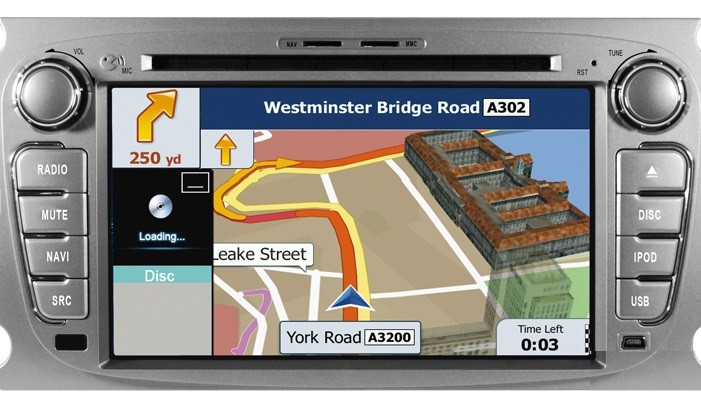 Dynavin DVN-FOs Multimedia Navigation N7 Plattform für Ford Mondeo BA7,Ford Galaxy WA6,Ford Focus DB3,Ford S-MAX WA6 inkl. Navigationssoftware iGo Primo
