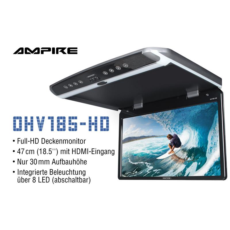 "AMPIRE OHV185-HD Full-HD TFT Deckenmonitor 47cm (18.5"") mit HDMI-Eingang"