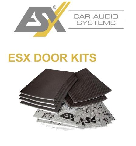 ESX QDK 1 QUANTUM Komplettset Türdämmung selbstklebend AluButyl und Akustik-Schaumstoff schalldämmend, Schalldämmung, Vibrationsdämpfung