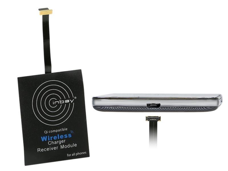 ACV 240000-25-08 Inbay® Universaler Induktiver Qi-Ladeempfänger USB unten