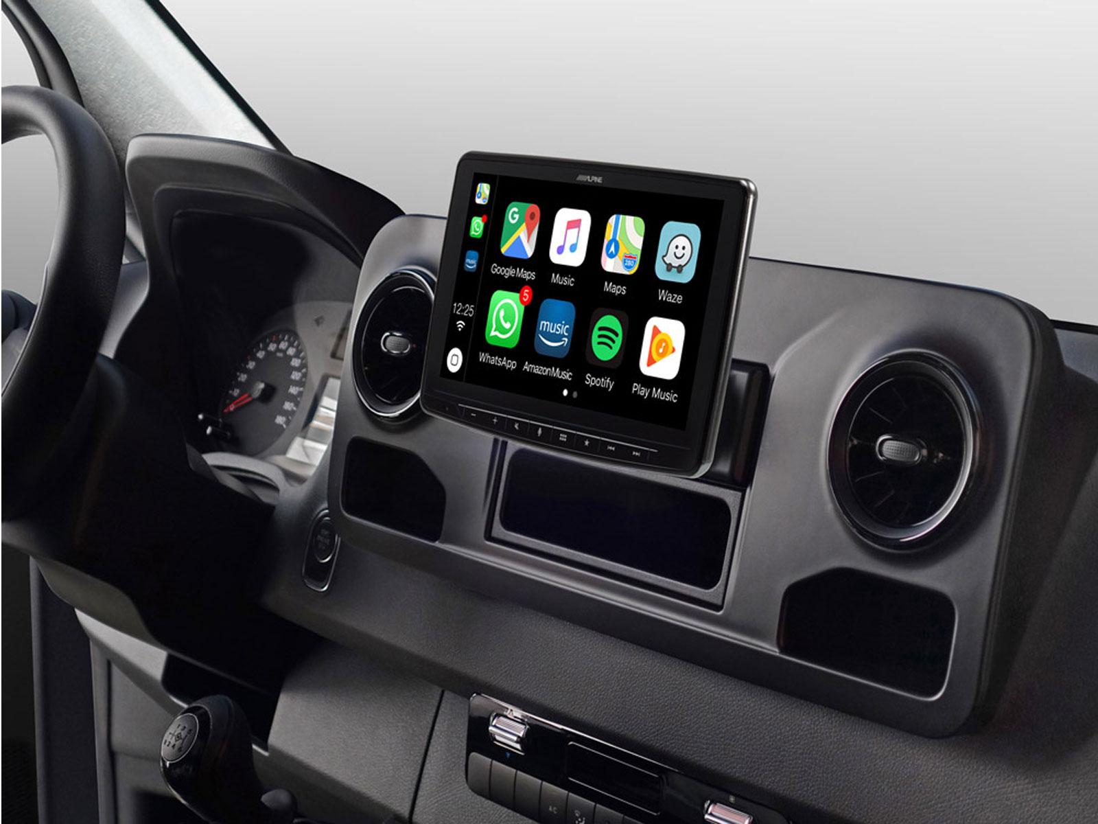 Alpine INE-F904S907 All in One Navigation mit 9-Zoll Display für Mercedes Sprinter W907 (VS30)