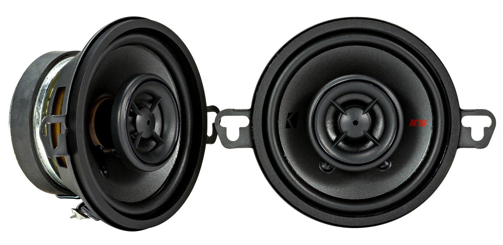 """KICKER KSC350 (KSC3504) 8,7 cm 2-Wege Koaxial-Lautsprecher Paar, 100 Watt (3.5"""")"""