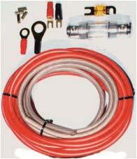 Autoleads CK-200 20mm² Kabelkit mit Powerkabel rein Kupfer ofc 99,9% Verstärkeranschlußset