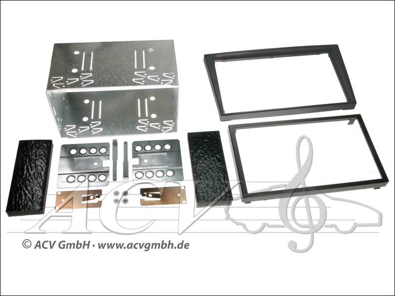 installation Double-DIN kit tactile caoutchouc Opel 2000 -> Couleur: Noir
