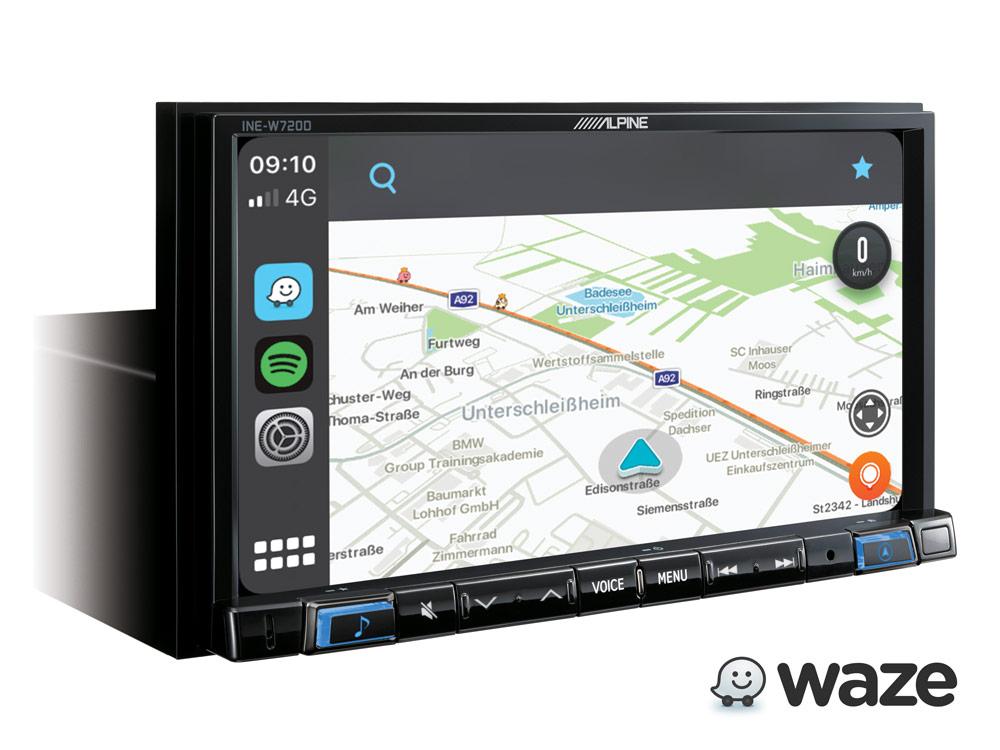 Alpine INE-W720D Navigationssystem mit DAB+, Autoradio 7-Zoll Display, Apple CarPlay und Android Auto Unterstützung