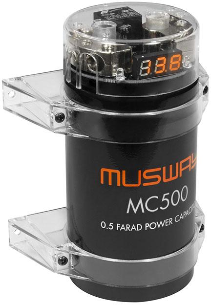 MUSWAY MC500 Pufferelko 0,5 Farad MC500 Cap / 0,5 Farad mini Kondensator Mini-Pufferkondensator