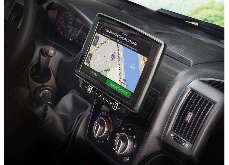 Alpine X902D-DU All in One Navigation mit 9-Zoll Display für Fiat Ducato 3, Peugeot Boxer 2, Citroën Jumper 2
