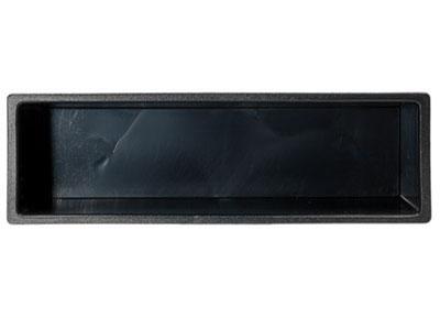 RTA 000.007-0 Einbaurahmen, Ablagefach, Doppel-DIN Ausschnitte auf Einfach-DIN Geräte