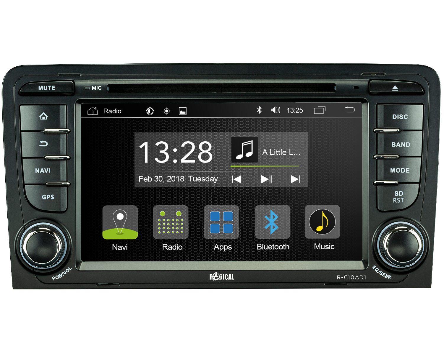 RADICAL R-C10AD1 Audi A3 Infotainment Android T8