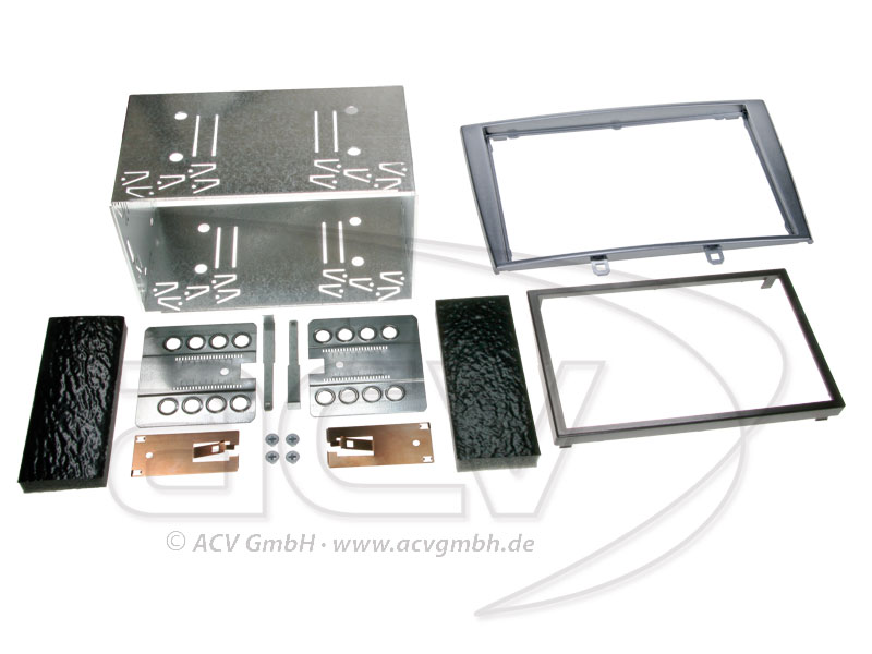 Double-DIN installation kit for Peugeot 308