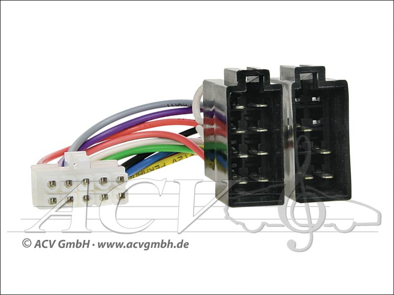 ACV 454 001 Philips Radio cable Radio brand -> ISO