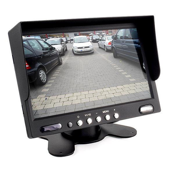 """AMPIRE RVM072 TFT-Monitor 17.8cm (7"""") mit 2 Eingängen Aufbaumonitor TFT LCD-Display"""