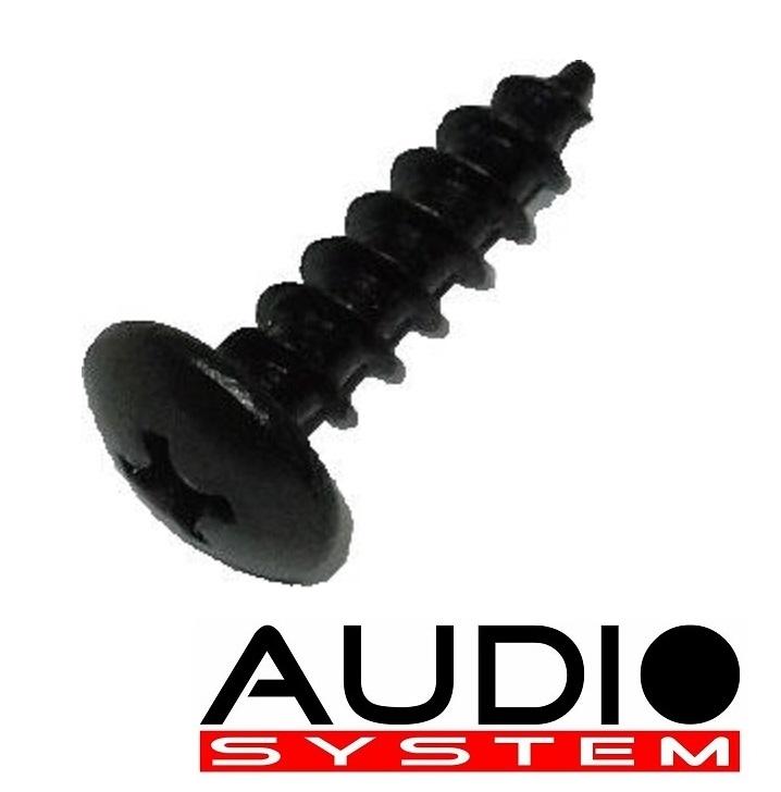 AUDIO SYSTEM SCREW 5x20 mm Linsenkopf-Schrauben in schwarz-eloxiert 100 Stück
