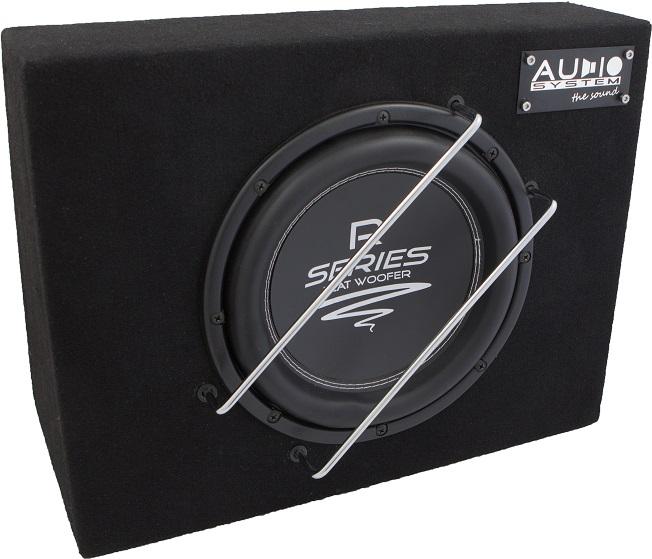 Audio System R 10 FLAT G  RADION-SERIES HIGH EFFICIENT Gehäuse Subwoofer 350 Watt