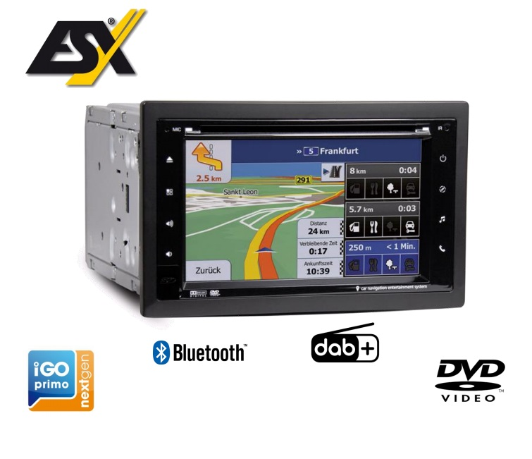 """ESX VN630W-DAB 6,2"""" 2-DIN Autoradio, Navigation, Naviceiver mit DAB+ und DVD-Laufwerk"""
