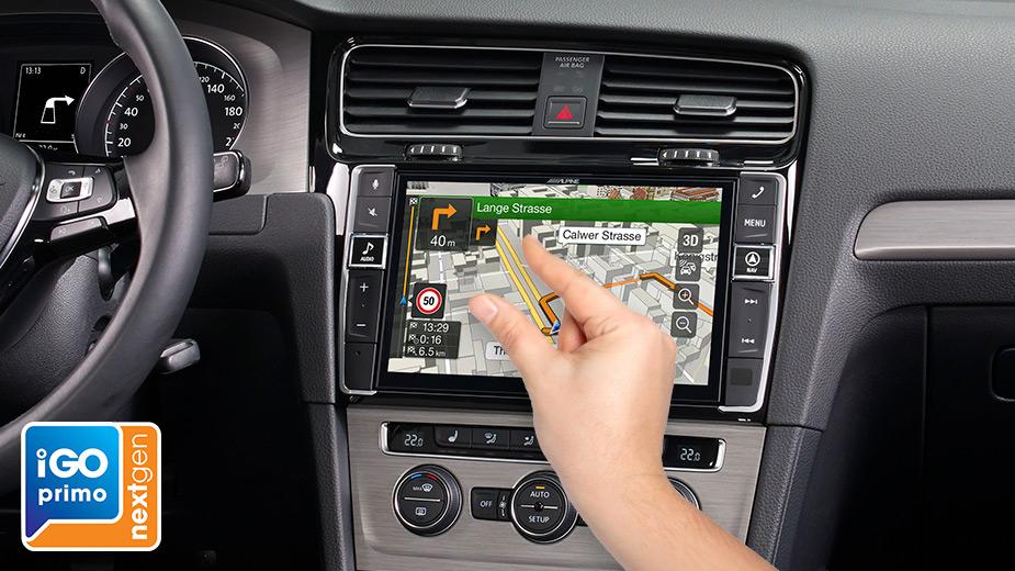 Alpine X903D-G7 9-Zoll Premium-Infotainment-System für Volkswagen Golf 7 mit Navigationssystem, Apple CarPlay und Android Auto Unterstützung