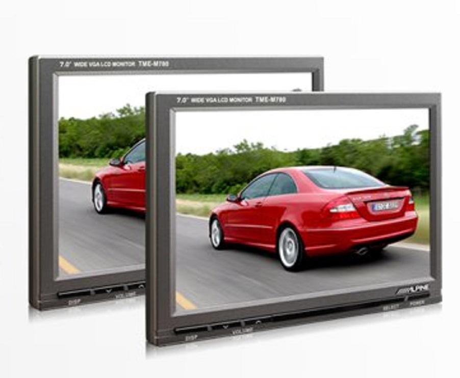 """Alpine PKG-M780 Paket bestehend aus 1x 7"""" Breitbild LCD-Farbmonitor und 1x 7"""" Breitbild LCD-Zusatzmonitor"""
