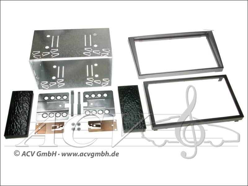 installation Double-DIN kit tactile caoutchouc Opel 2000 -> Couleur: anthracite
