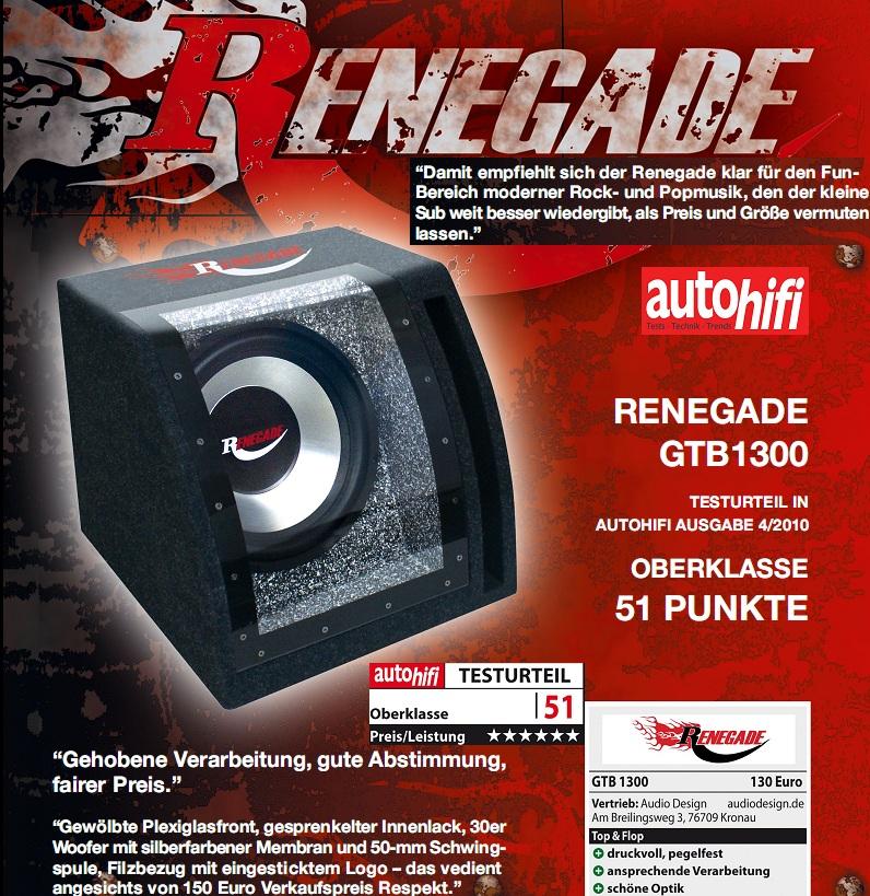 Renegade GTB1300 Single-Bandpass 600 Watt GTB 1300
