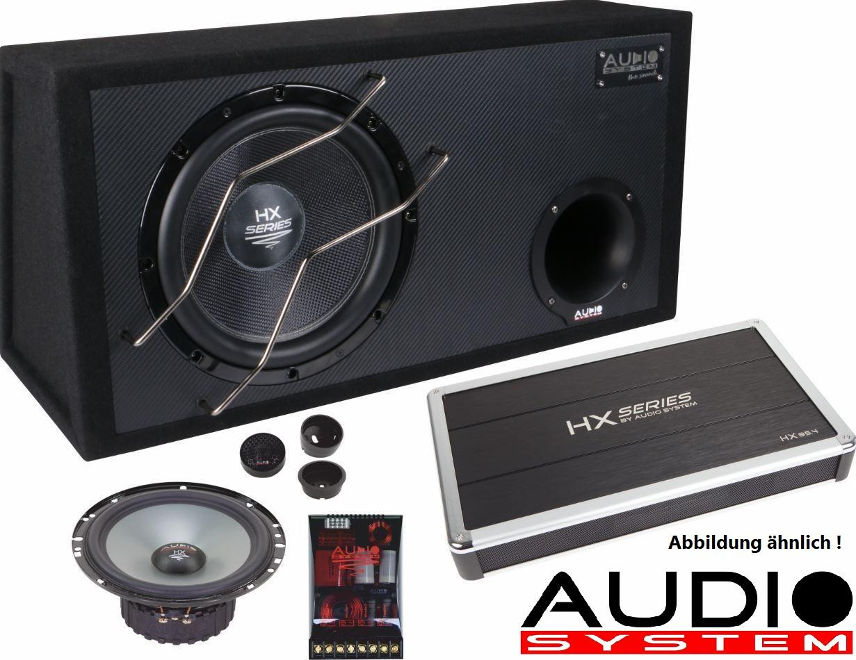 Audio System HX-SERIES EVO Set HX100 SQ EVO 2 : 2-Kanal Verstärker + Subwoofer + Lautsprecher - HX-SERIES Komplett-Set