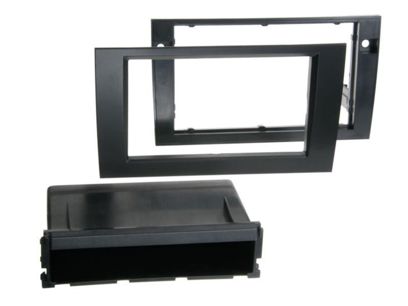 ACV 281320-12-1 Radioblende 2-DIN RB mit Fach Audi A4 / Seat Exeo schwarz