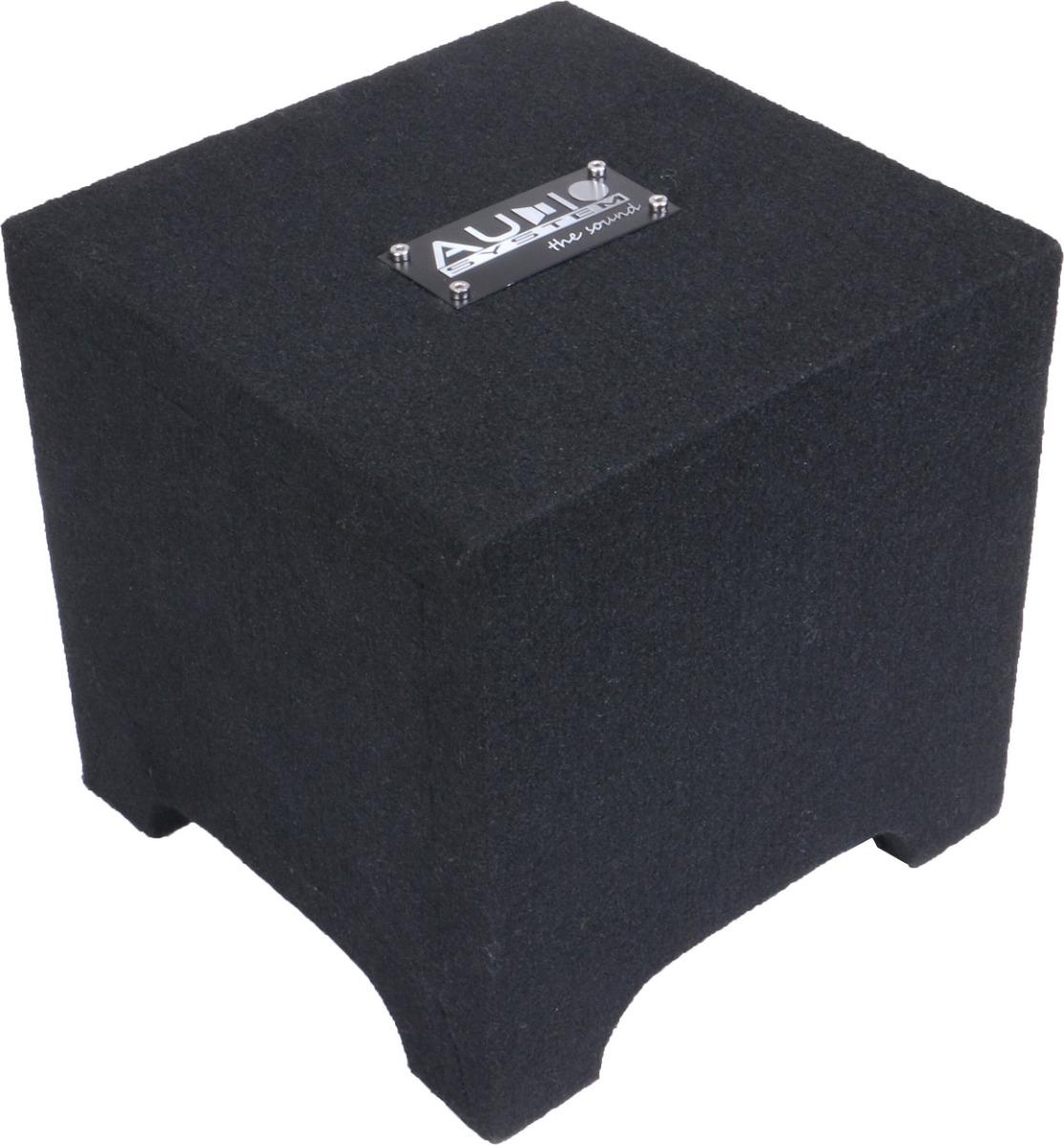 Audio System R 08 FLAT GDF1 ACTIVE DOWN FIRE Gehäuse Subwoofer + Monoamplifier R 08 FLAT + CO-200.1