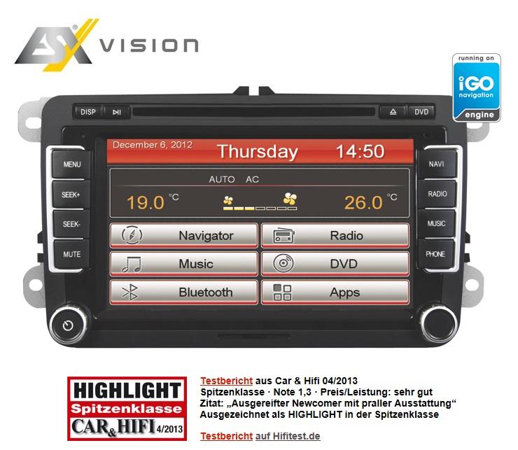 ESX Naviceiver VN710-VW-P1-DAB für VW, Seat und Skoda Fahrzeuge mit DAB Tuner