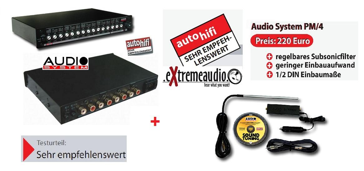 Audio System Set PM4 Equalizer PM/4 + Messmikrofon MikroAH
