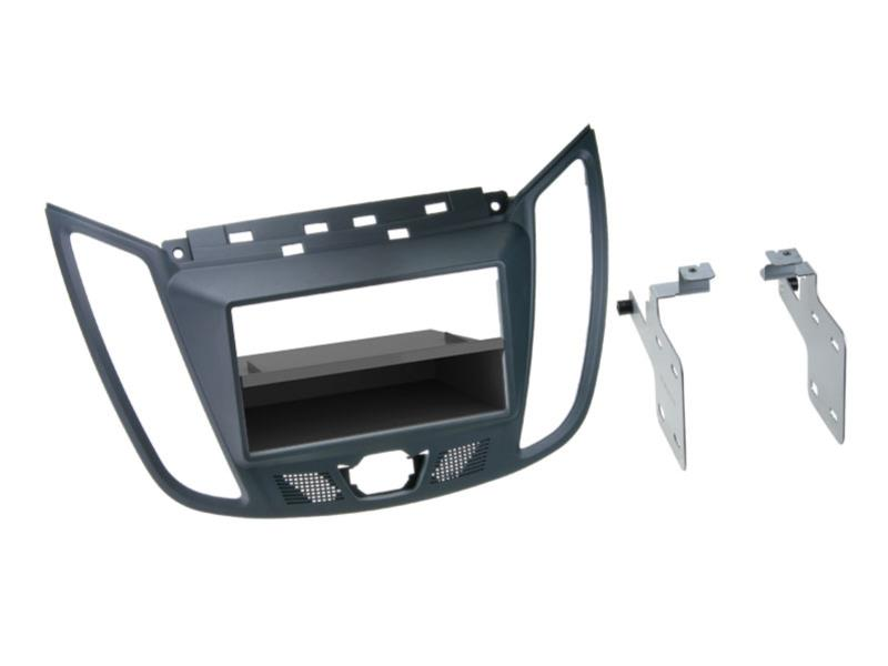 ACV 281114-22-2  2-DIN facia plate with pocket Ford C-Max dark grey