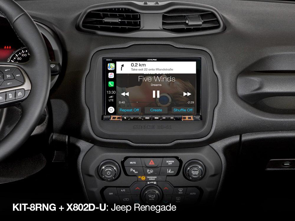 Alpine KIT-8RNG Einbauset für X803D-U (Jeep Renegade) 2DIN Installations-Set