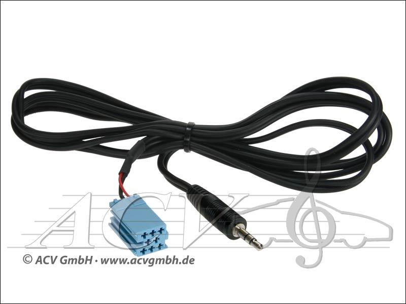 ACV 311490-05 Klinkenstecker 3.5mm Stereo auf Mini-ISO (blau) 1.
