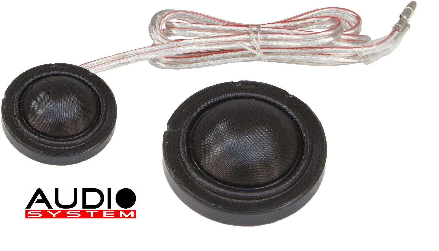 Audio System HS 24 INSTALL EVO 2 25 mm Gewebe-Unterbau-Neodymhochtöner 1 Paar Hochtöner Tweeter